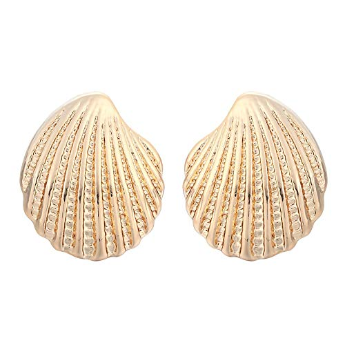 (Fashion Earrings for Women Wholesale Fashion Beautiful Ancient Tiny Scallop Shells Earrings Jewelry (Silver Plated))