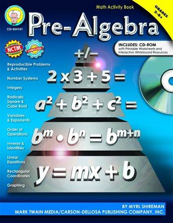 Amazon.com: CD-404101 - PRE-ALGEBRA ACTIVITY BOOK GR 5-8 ...