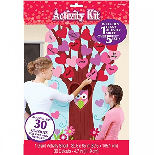 Amscan Valentine's Day Party Decorating Activity Kit (31 Pack), Multicolor, 65