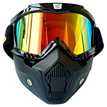 Cyclegear CG03 Motorcycle Goggles Ski Snowboard Mask Sports Glasses (Colorful lens)