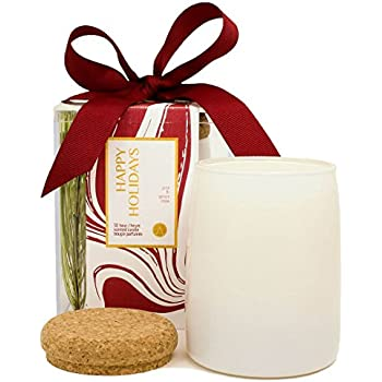 Happy Holidays Pine Tree Scented Soy Jar Candle
