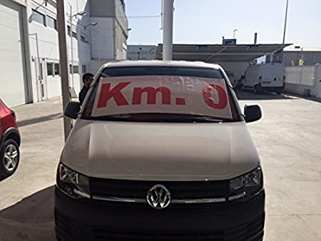 Parasol publicitario Km. 0 | Cartel Km. 0 concesionarios ...