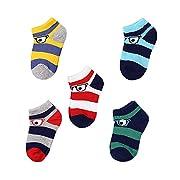 GAMISOTE Baby Boys Socks Newborn Infant Girls Cute Unisex Cotton Crew Sock 5 Pack