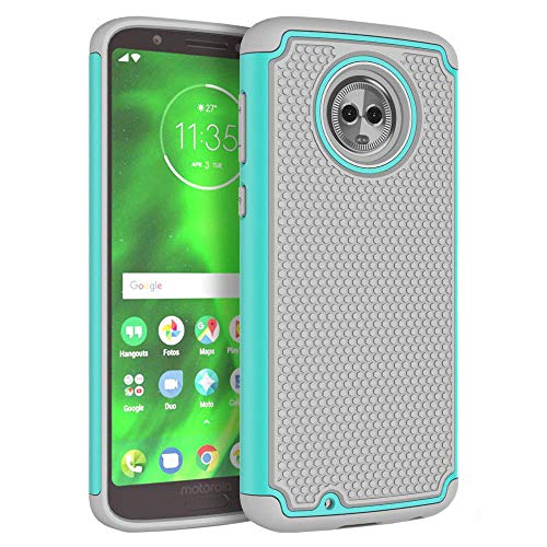 Phone Case for Motorola Moto G6 with Tempered Glass Screen Protector Rugged Protective Heavy Duty Full Body Rubber Cell Accessories Slim Hard Cover MotoG6 G 6th Gen 6 6G XT1925DL XT1925 XT1925-6 Women (Case Protector Rubber)
