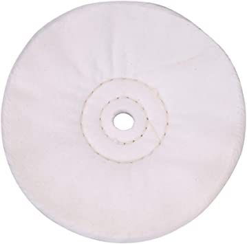 """6 Inch Buffing Polishing Wheel For Bench grinder With 1//2/"""" Arbor Hole White"""