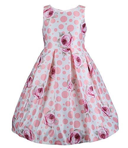 3 Tier Dress (EMMA RILEY Girls' Satin Three-Tier Party Dress 12 Purple)