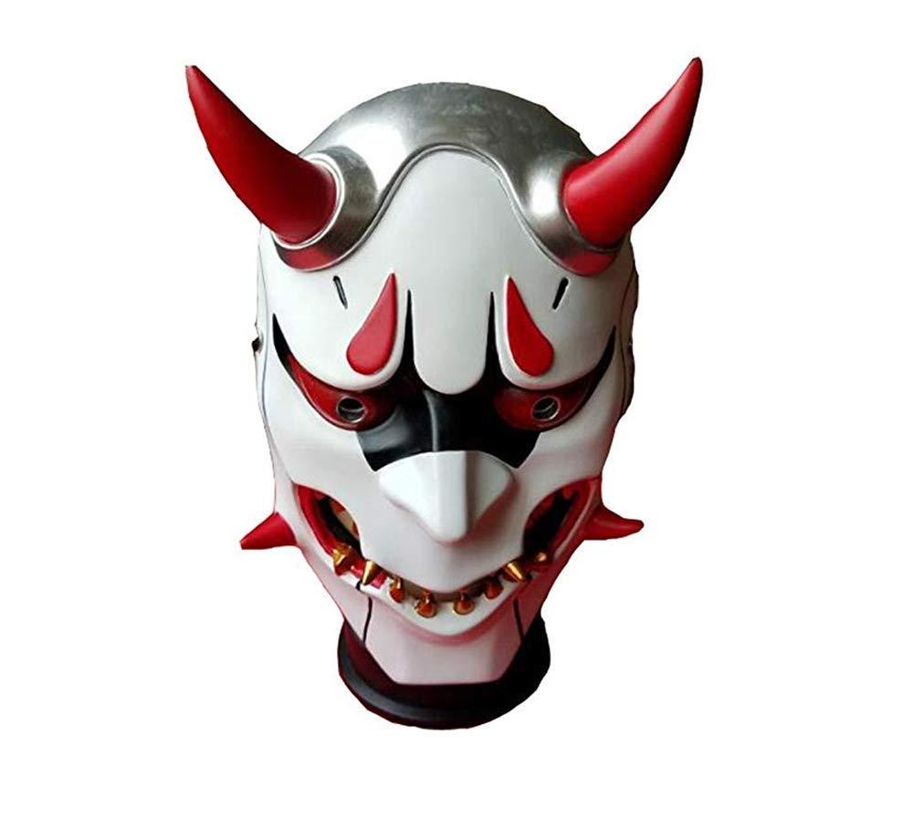 TISEA Exotic Gamer Gear Unisex Hoodie Genji White Reaper Black Hoodie Cosplay Costume (One Size, Genji's Mask)