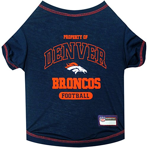 Broncos Dog Tag (NFL DENVER BRONCOS Dog T-Shirt, X-Small)