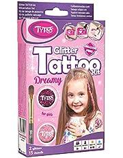Zestaw do tatuaży brokatowych dla dziewcząt z 15 niesamowitymi szablonami, 8-18 trwałych tatuaży tymczasowych.