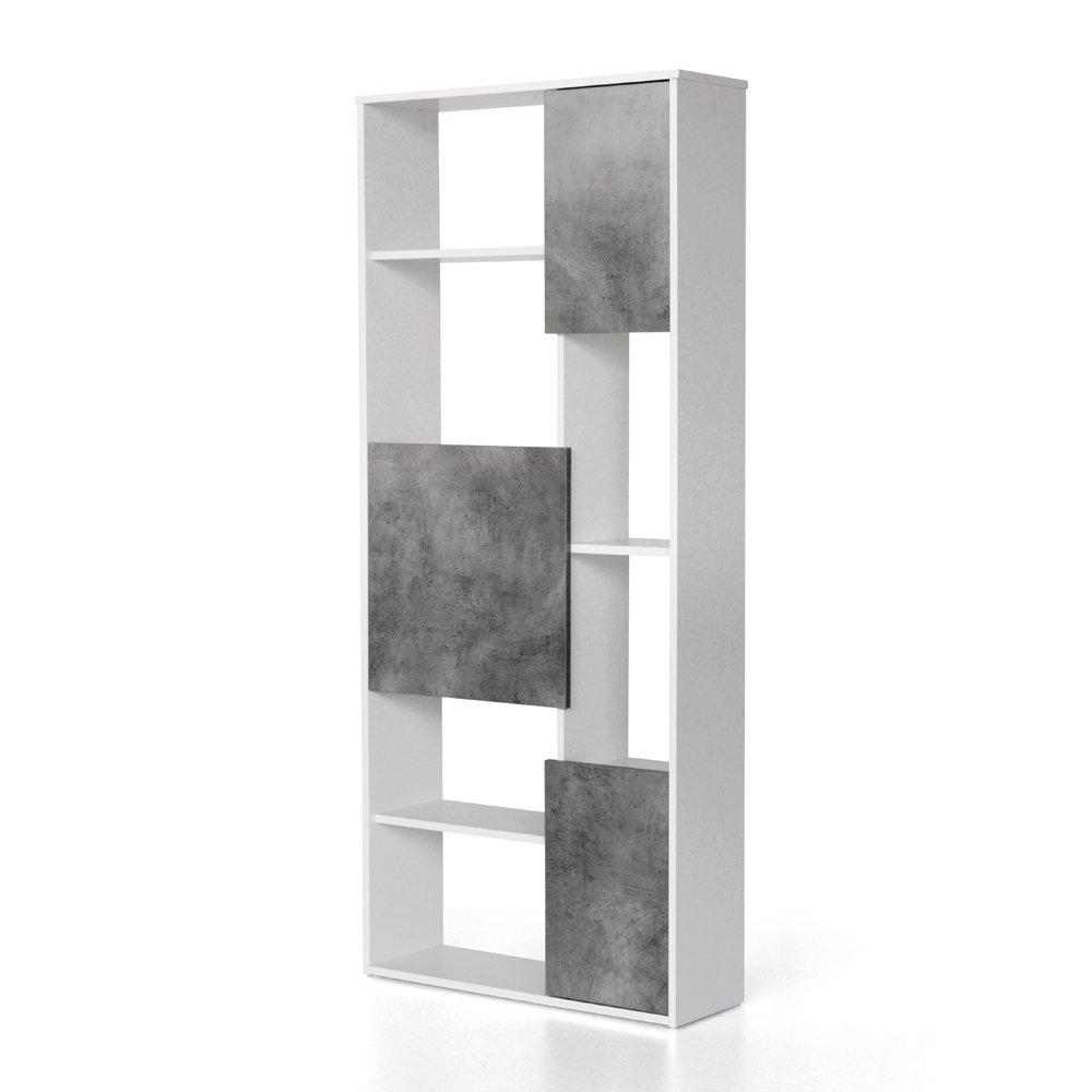 Italian Concept 19 Libreria Jarret, Legno, Bianco, 75 x 24 x 175 cm