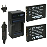 Wasabi Power Battery (2-Pack) and Charger for HP NP-60, A1812A, L1812A, L1812B and HP Photosmart R07, Q2232-80001, R507, R607, R607xi, R707, R707v, R707xi, R717, R725, R727, R817, R817v, R817xi, R818, R827, R837, R847, R927, R937, R967