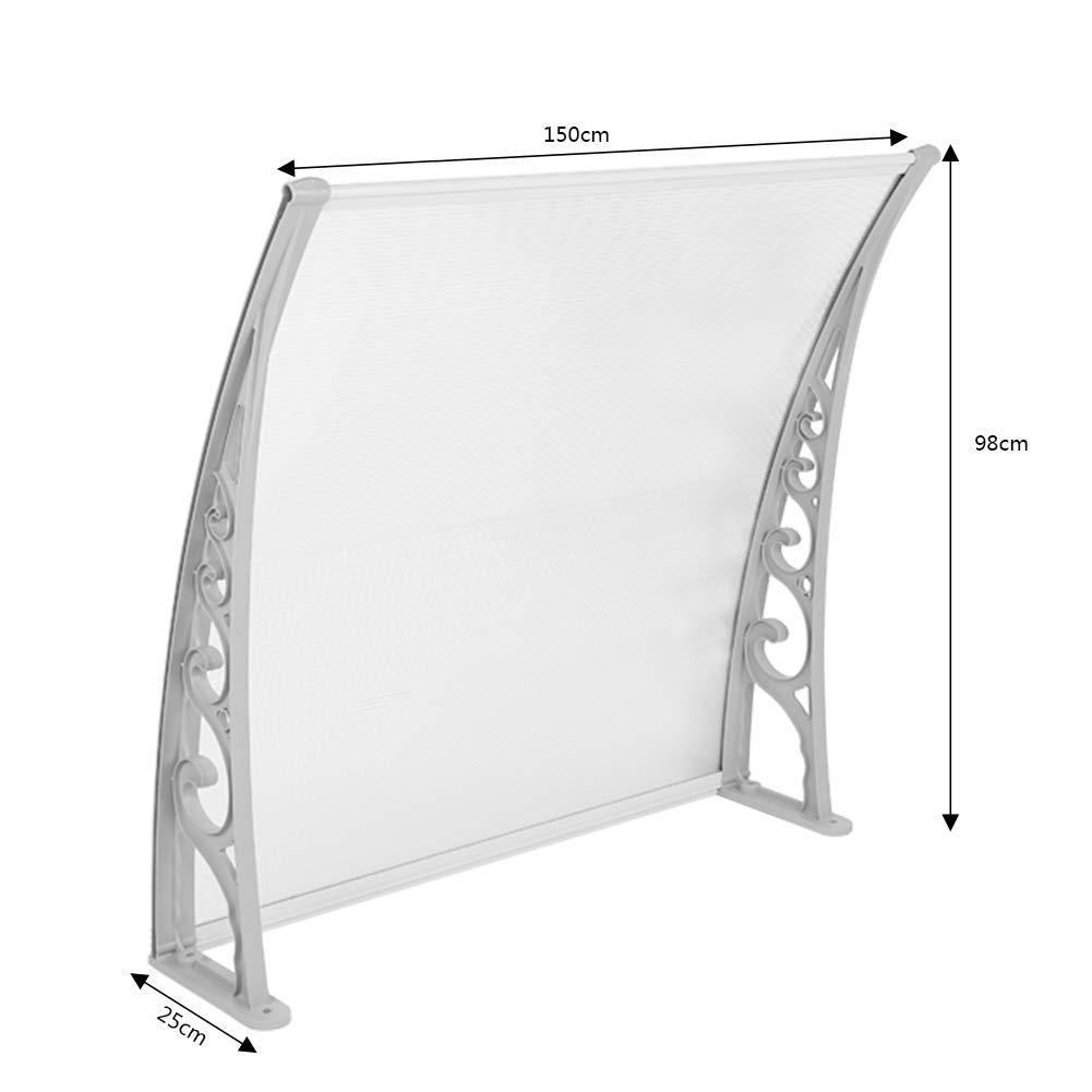 60x100cm MUPAI Marquesina Toldo Cubierta DIY Proteccion Puertas Ventanas Terrazas Decorado 7 tama/ños