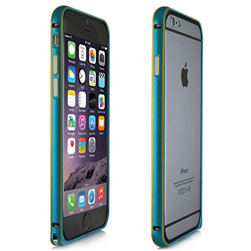 Alienwork Schutzhülle für iPhone 6 Ultra-flach Hülle Case Bumper Aluminium hellblau AP604-03