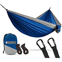 Bear Butt Hammock - USA Brand 2 Person Double Camping Parachute Hammocks - XL 10 Foot Nylon Portable Outdoor Camp, Hiking & Travel Lounger - Heavy Duty BearButt Gear Holds 700lb for Sitting & Hanging