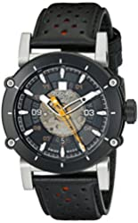 Zodiac Men's ZO8572 ZMX-2 Black Stainless Steel Watch with Black and Red Band