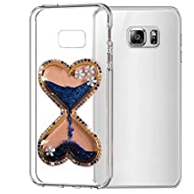 QKKE [Hourglass Flower] Case Glitter 3D Handmade With Ultra Thin Slim Fit Soft TPU Silicone Anti-scrtach Case For ASUS Zenfone 2 Laser (ZE550KL / ZE551KL) 5.5 Inch (Hourglass Flower/Blue)