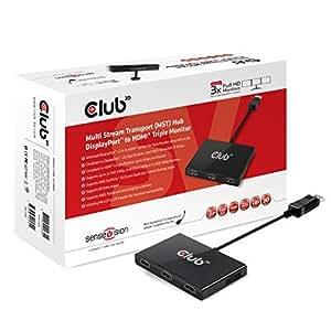 Club 3D CSV-5300H - Extensor de vídeo (HDMI, DisplayPort 1.3)