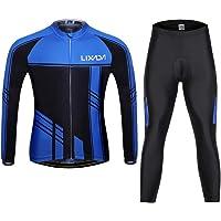 Lixada Montaña Arsuxeo Una Serie de Chaqueta de Manga Larga+ Pantalones Largos de Ciclismo de Bicicleta a Prueba de…