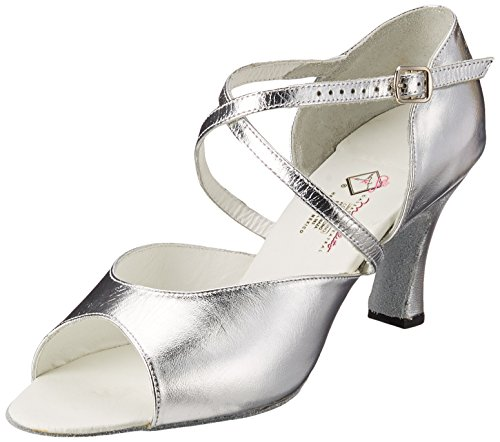 Mujer de color para Zapatos Copacabana Miguelito Plata Tacón Plata UXa7xF