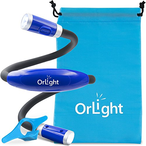 Book Light for Reading in Bed, Pro Led Hug Light, Rechargeable Neck Light Around the Neck with Adjustable Brightness, Flexible Neck Lamp, Ideal for Kids, Crafts, Traveling and BBQ at Night, By OrLight