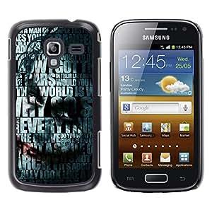A-type Arte & diseño plástico duro Fundas Cover Cubre Hard Case Cover para Samsung Galaxy Ace 2 (Joker Tipografía)