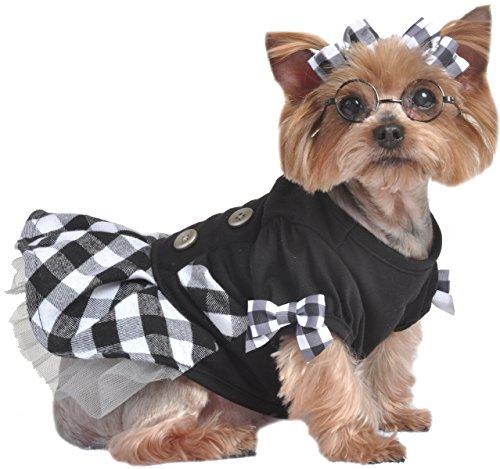 Gathered Bow Flats (Max's Closet Black and White Dog Dress, Small)
