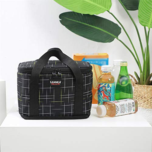 Yu2d  Insulated Lunch Bag for Women Men Kids Cooler Adults Tote Food Lunch Box(Black)