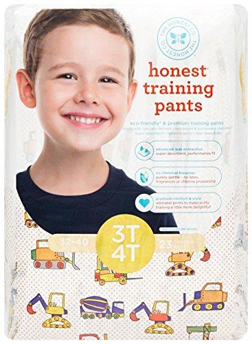 Honest Training Pants, Construction Zone, 3T-4T, 23 Count