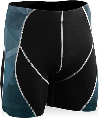 DEZIRO - Pantalones de ciclismo con tinta abstracta ...