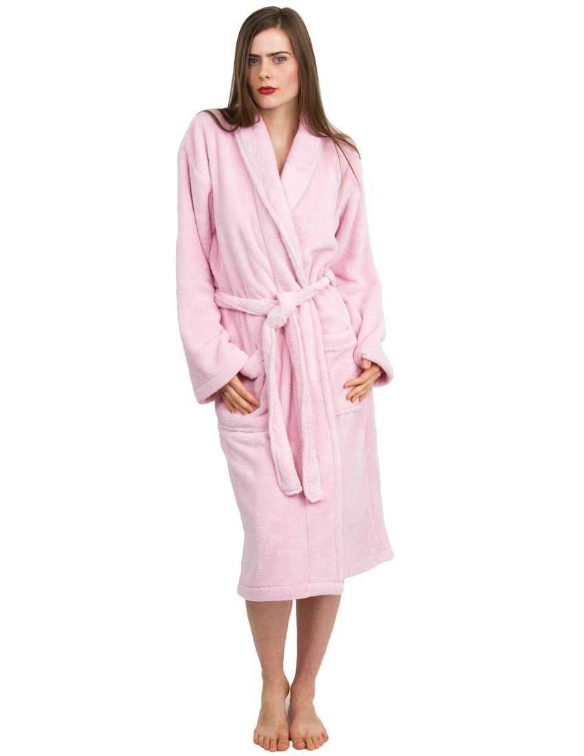 e1e085b236 TowelSelections Women s Super Soft Plush Bathrobe Fleece Spa Robe Made in  Turkey