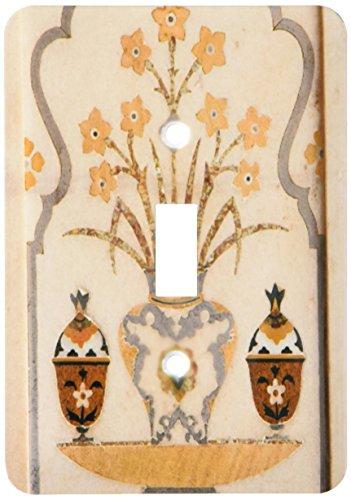 (3dRose lsp_188221_1 Marble Inlay, Tomb Of Itimad-Ud-Daulah Baby Taj, Agra, India. - Single Toggle Switch)