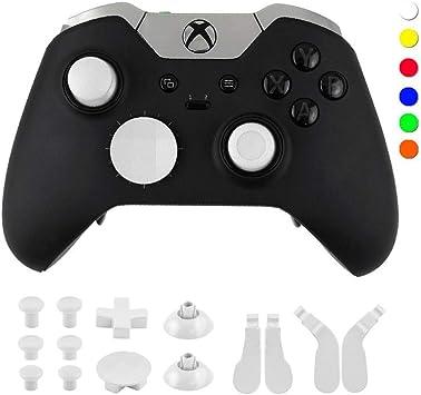 LXWM Para el Controlador inalámbrico Xbox One Elite 14 Piezas de reemplazo de Metal, Palanca de Mando, Palanca de Mando, Paddle Cubre DPAD para Xbox One Elite Gamepad,White: Amazon.es: Deportes y aire