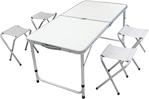 CAR tC Mesa de Picnic y sillas Plegables, Mesa Plegable portátil y ...
