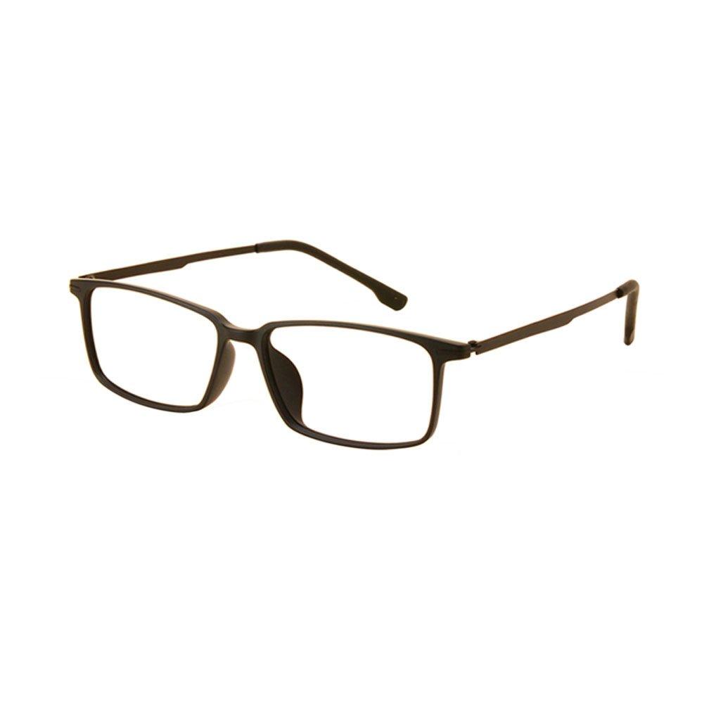 Hzjundasi Grande Cornice quadrata Studente Miope Occhiali Ultraleggero TR90 Korean Retro Eyeglasses Semplice Miopia Glasses Forza -0.5~-6.0 (Questi non sono occhiali da lettura)