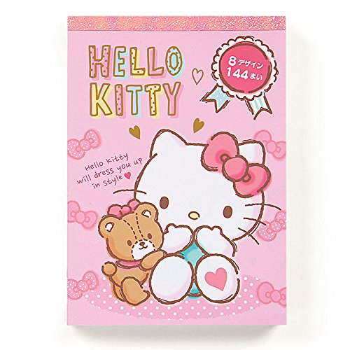 Hello Kitty Sanrio Pattern Memo Note Pad
