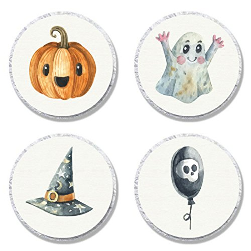 (MAGJUCHE Halloween Candy Stickers, Sugar Skull Party Sticker Labels for Favors, Decorations, Fit Hershey's Kisses, 304)