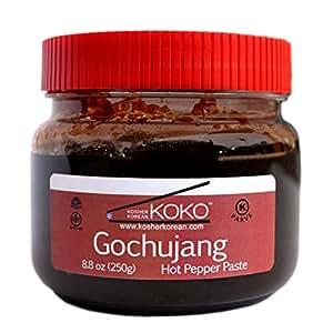 KOKO Food Koko Gochujang (Fermented Hot Pepper Paste) 8.8oz(250g) - Certified Kosher Gochujang - Premium Gluten-free 100% Korean all Natural