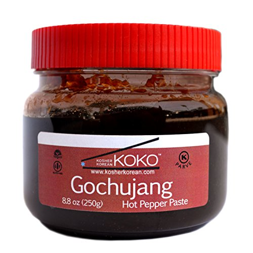 KOKO Food Koko Gochujang (Fermented Hot Pepper Paste) 8.8oz(250g) - Certified Kosher Gochujang - Premium Gluten-free 100% Korean all Natural