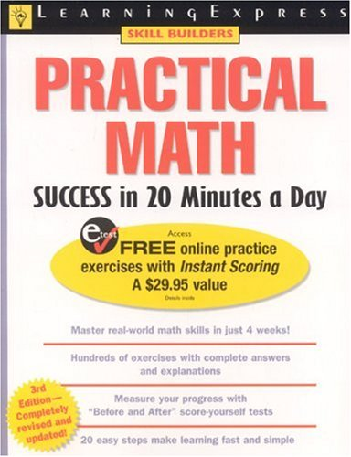 practical math success in 20 minutes Tutoring for the apprenticeship test  math practical math success in 20 minutes a day -by learning express editors price $16 (approximately) mechanical aptitude.