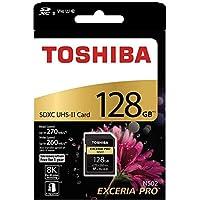 TOSHIBA EXCERIA PRO N502 128 جيجابايت بطاقة ذاكرة SD SDXC UHS-II Class 10 U3 8K V90 فيديو كلاس متوافقة THN-N502G1280A6