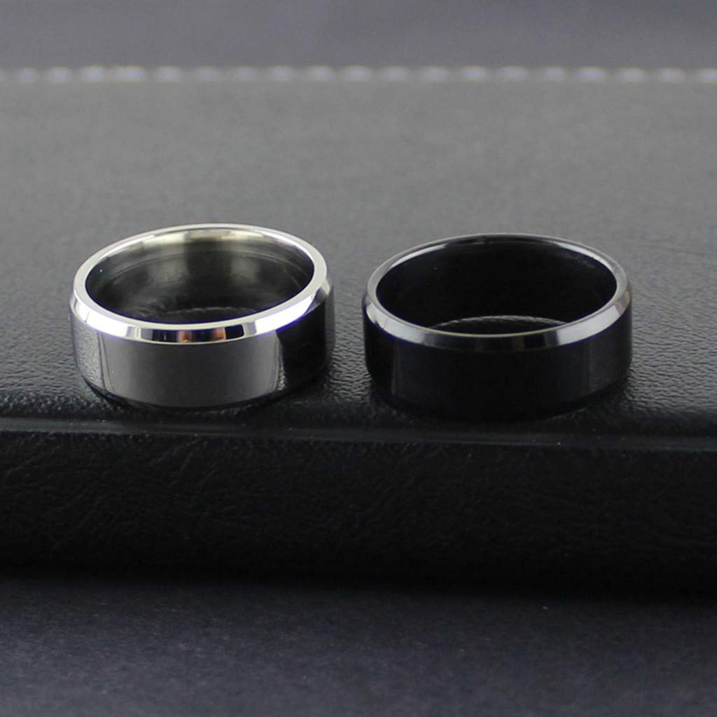 Coco-Z New Fashion Simple Unisex Lovers Stainless Steel Mirror Finger Rings Jewelry Gifts Overseas Import Products Specialty Store