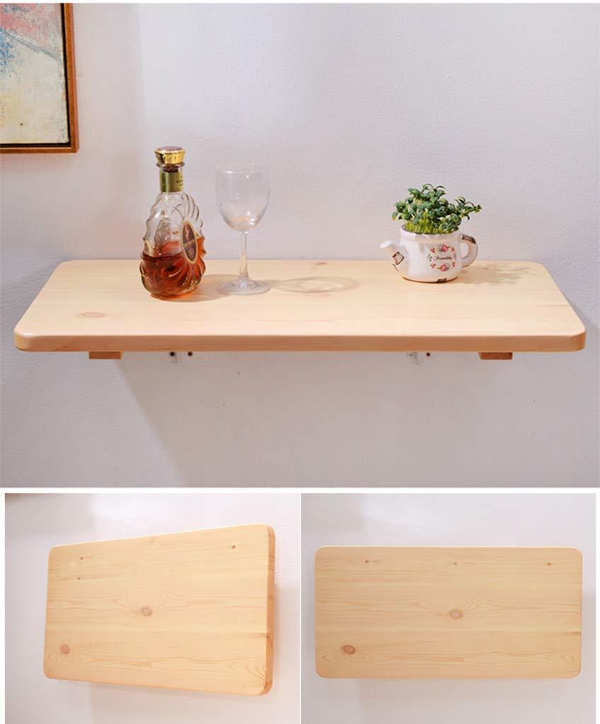 XCJ Pine väggmonterad fällbart bord, matbord, droppblad datorbord väggbord lärande bord hopfällbart, 120 x 30 cm 120*40cm