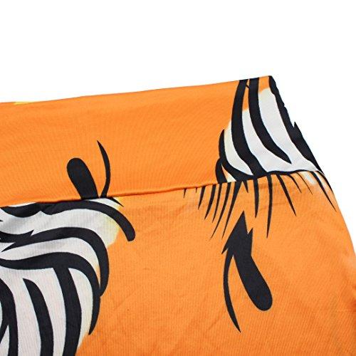Falda larga maxi de flores, de verano, cintura alta, para playa Zebra Stripe