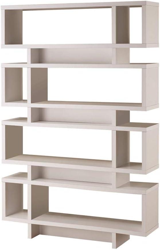 Coaster Home Furnishings CO-800308 Modern 4-Shelf Reversible Bookcase Bookshelf Display Unit Storage Office Organizer, 47.25