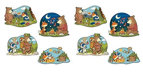 Beistle 54777 8 Piece Woodland Friends Cutouts, 15