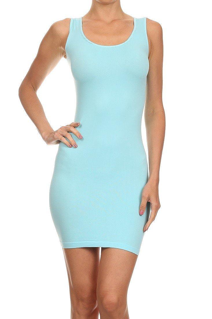 ICONOFLASH Women's Seamless Tank Dress