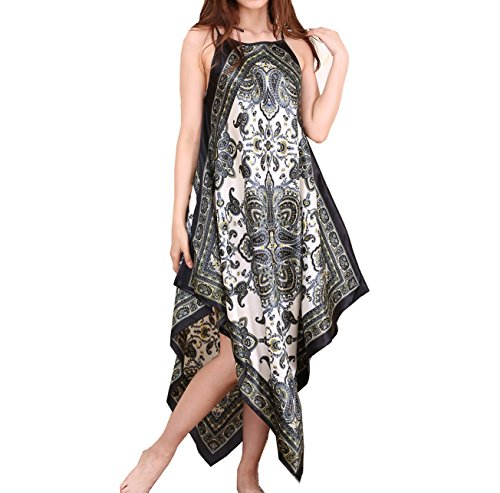 Shoulder Straps Satin (SexyTown Women's Satin Silk Long Nightgown Pajamas Adjustable Shoulder Strap (Style2-White 2))