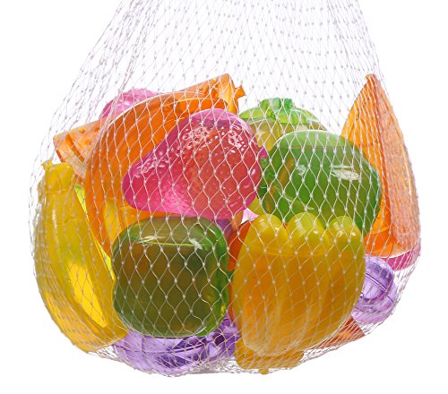 HOFA Reusable Plastic Ice Cubes Fruits Shaped (Pack of 20)
