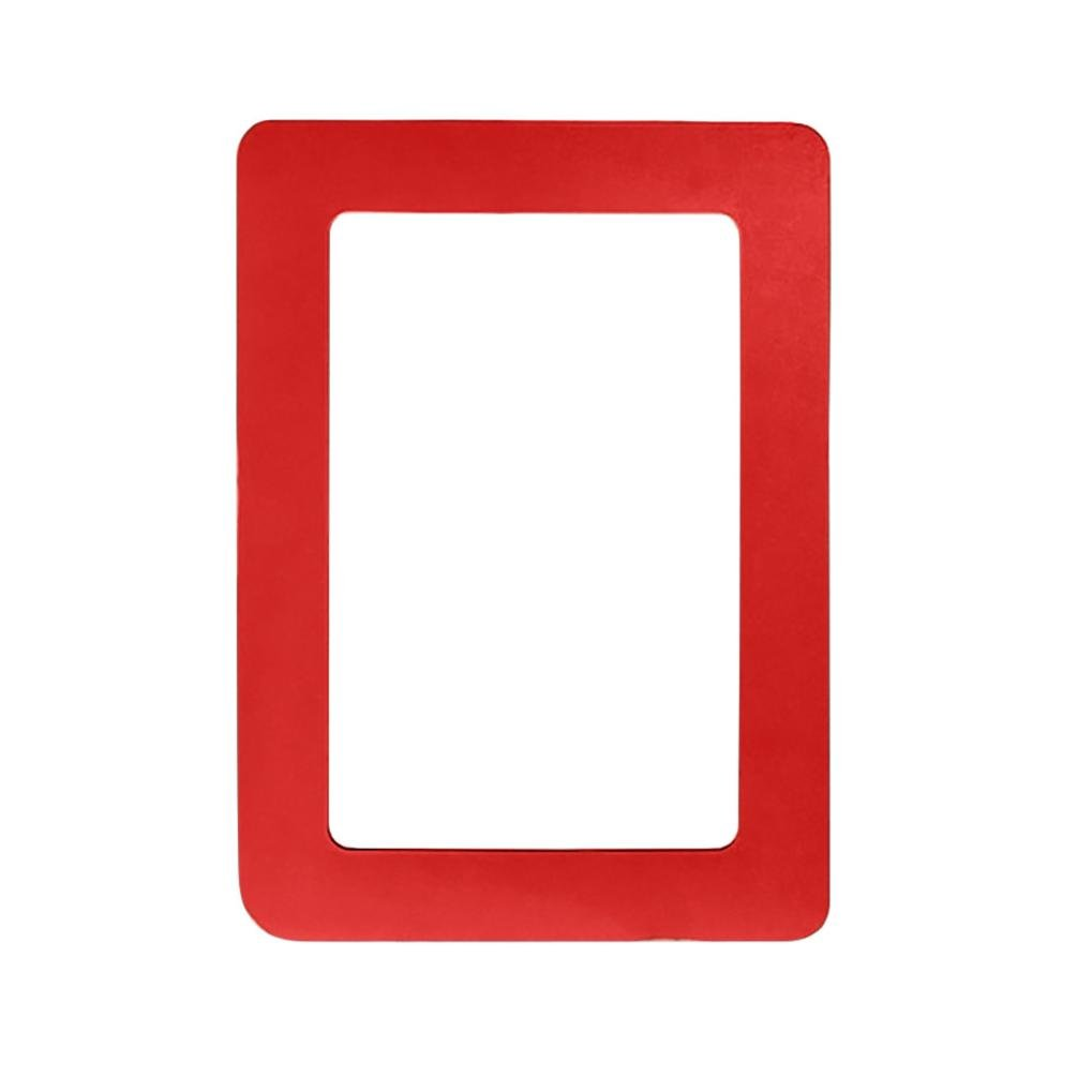 SUKEQ Magnetic Picture Frame, Colorful Photo Collage for Refrigerator, Holds 4X6 Inch Photos (Red)