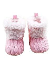 Goodtrade8 GOTD Baby Toddler Infant Girls Snow Boots Soft Sole Prewalker Crib Shoes
